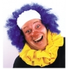Clown Wig Bald Curly Blue
